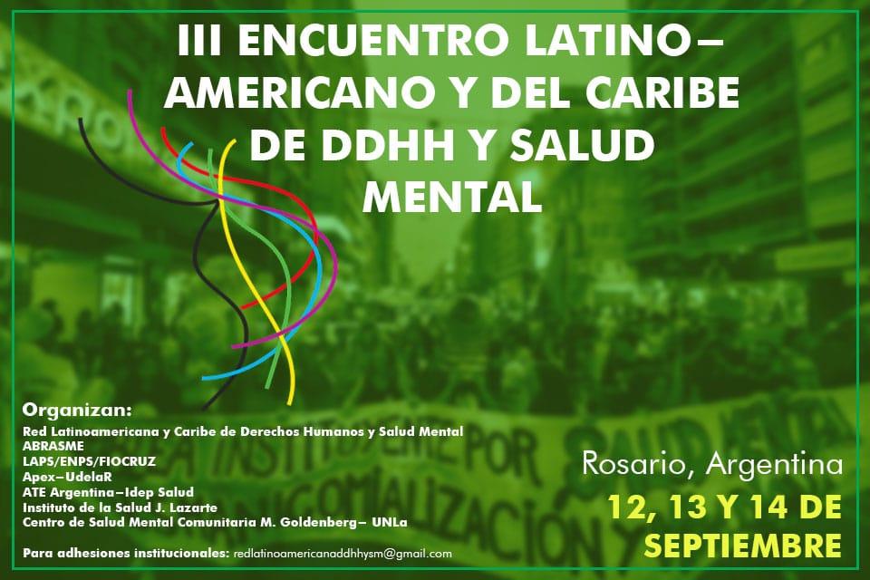 Becas para el III Encuentro Latinoamericano y Caribe de DDHH y Salud Mental