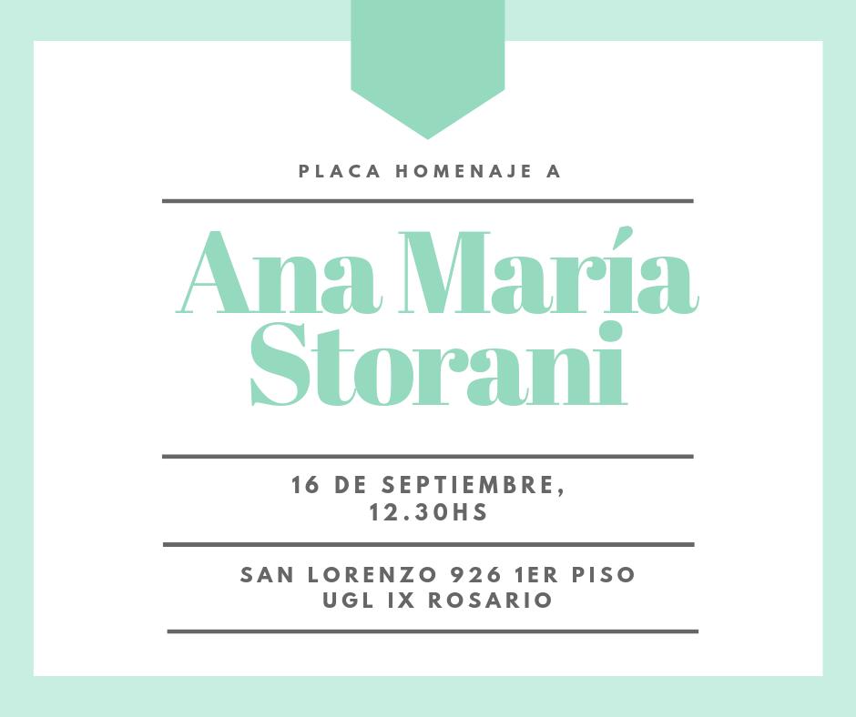 Homenaje a Ana Maria Storani