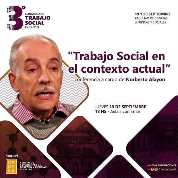 TERCER CONGRESO DE TRABAJO SOCIAL – UNIVERSIDAD NACIONAL DEL LITORAL – SANTA FE (ARGENTINA)