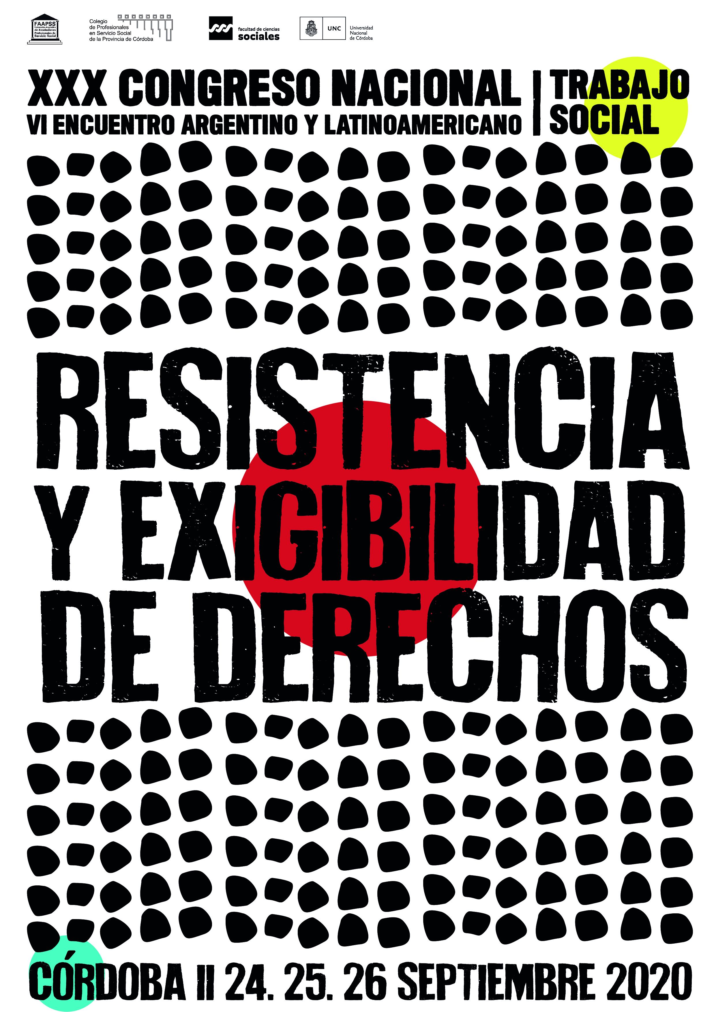 Segunda Circular XXX Congreso Nacional de Trabajo Social – Córdoba