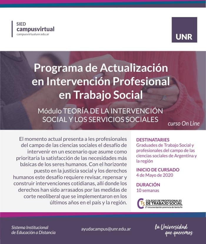 Programa de Actualización en Intervención Profesional en Trabajo Social